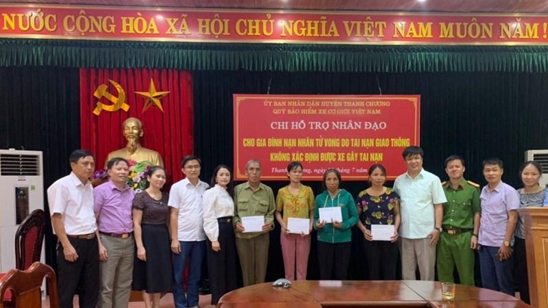 Hỗ trợ nhân đạo gia đình nạn nhân tử vong do tai nạn giao thông tại Thanh Chương, Nghệ An