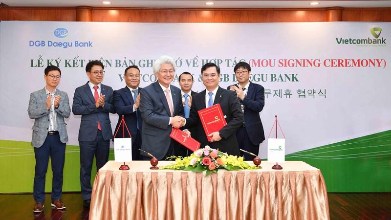 Vietcombank và DGB Daegu Bank ký kết Biên bản ghi nhớ hợp tác