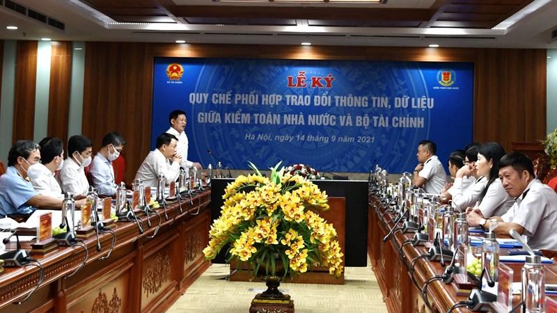 Bộ Tài chính và Kiểm toán Nhà nước ký Quy chế Phối hợp trao đổi thông tin, dữ liệu