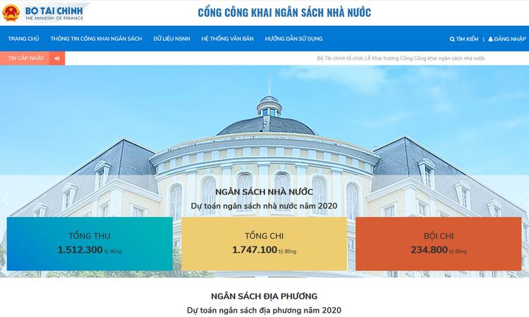 Bộ Tài chính ban hành Quy chế Quản lý, vận hành, khai thác Cổng Công khai ngân sách nhà nước