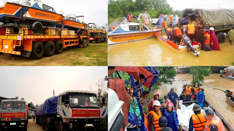 Giao kịp thời gạo, trang thiết bị dự trữ hỗ trợ ứng cứu nhân dân vùng lũ