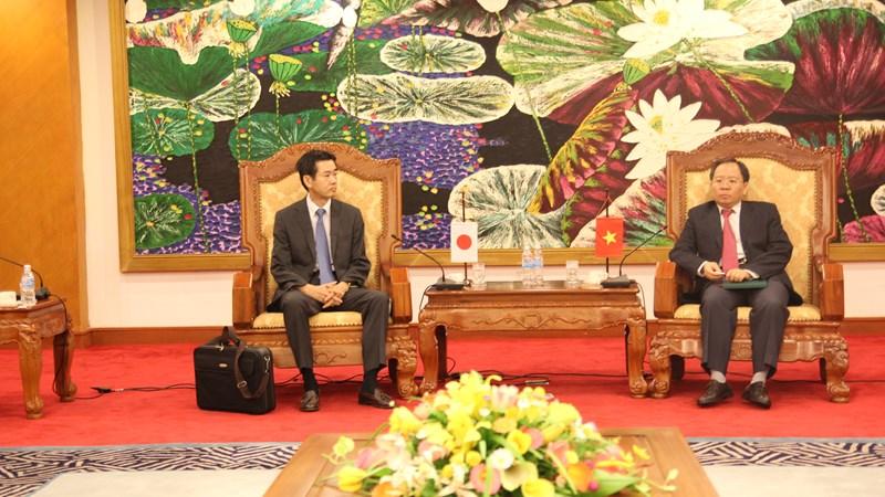 Thứ trưởng Bộ Tài chính Đỗ Hoàng Anh Tuấn tiếp và làm việc với Phó Tổng cục trưởng Hải quan Nhật Bản