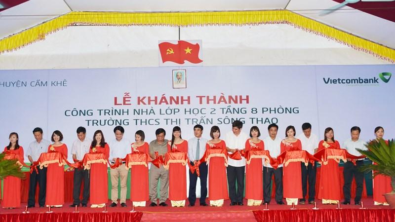 Vietcombank tài trợ 4 tỷ đồng xây dựng trường học tại tỉnh Phú Thọ