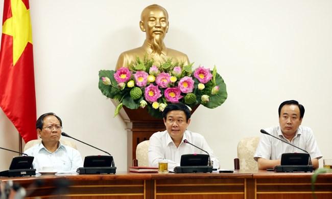 Phó Thủ tướng Vương Đình Huệ làm việc với 2 Ban chỉ đạo