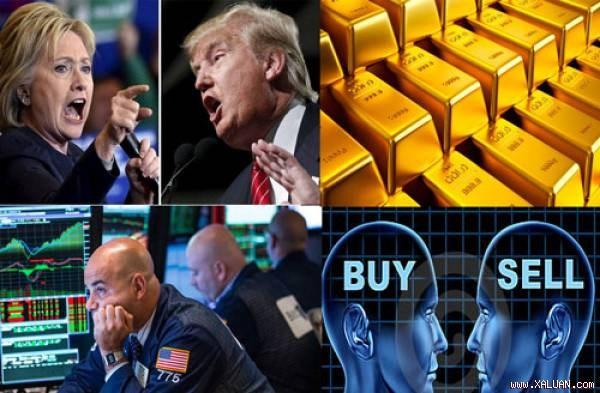 Vàng thế giới giảm mạnh trước ngày bầu cử Tổng thống Mỹ