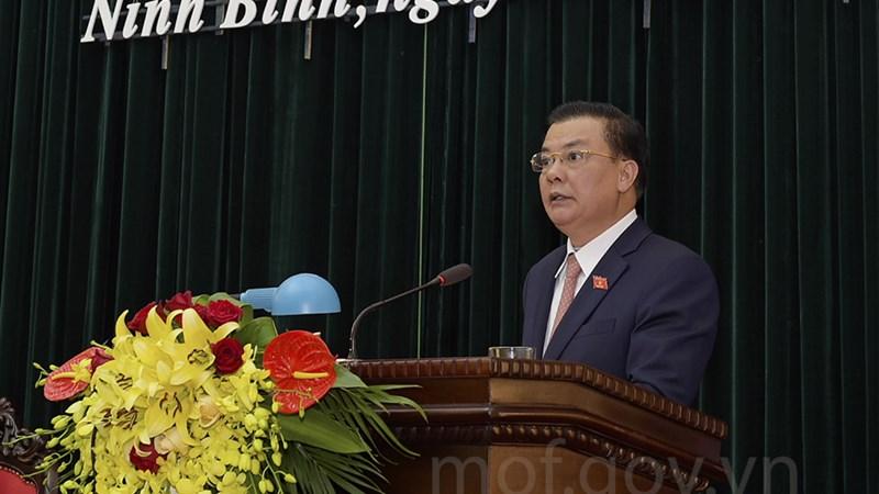 Bộ trưởng Đinh Tiến Dũng tham dự Kỳ họp thứ 3 Hội đồng nhân dân tỉnh Ninh Bình