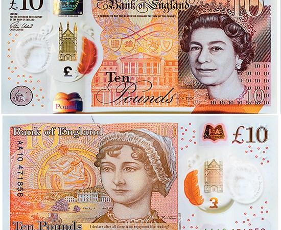 Nước Anh phát hành tiền 10 bảng mới