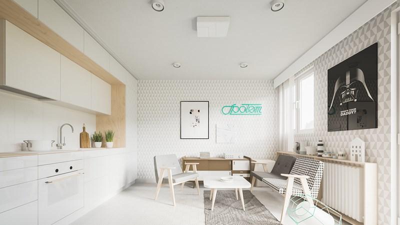 Thiết kế đẹp cho căn hộ dưới 50m2