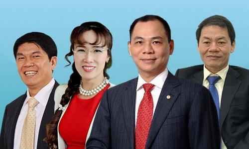 Khối tài sản của 4 tỷ phú Việt
