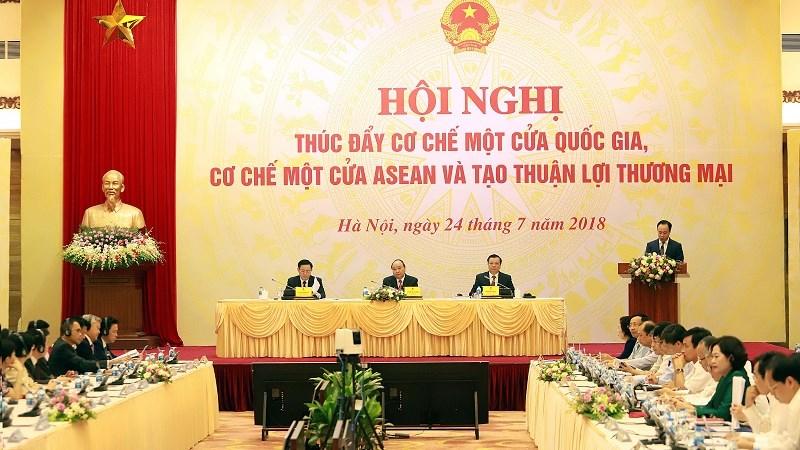 """Chùm ảnh Hội nghị trực tuyến """"Thúc đẩy Cơ chế một cửa quốc gia, Cơ chế một cửa ASEAN"""""""