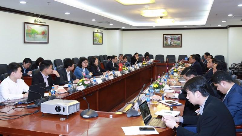 Bộ Tài chính Lào sang thăm, làm việc và chia sẻ kinh nghiệm với Kho bạc Nhà nước Việt Nam