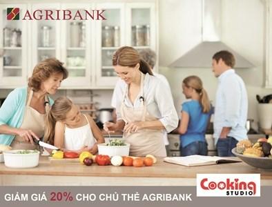 Giảm 20% cho chủ thẻ Agribank mua sắm tại Cooking Studio - TP. Hồ Chí Minh