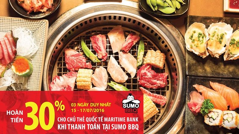 Ăn uống thả ga, hoàn tiền cực đã tới 30% với thẻ quốc tế Maritime Bank