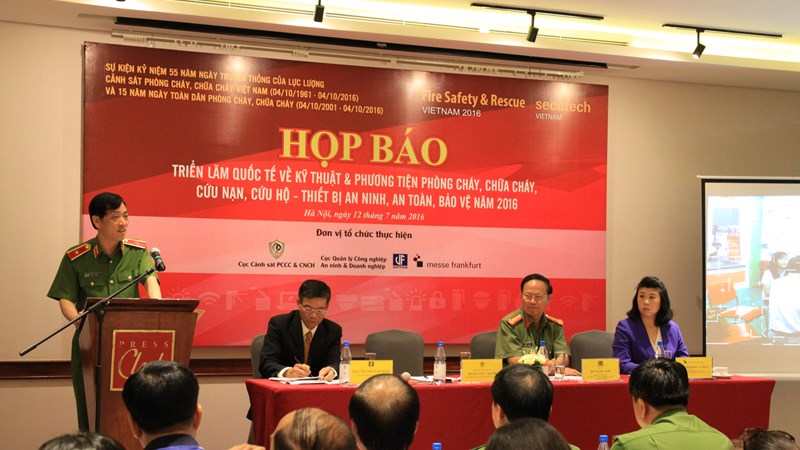 Hơn 150 doanh nghiệp tham gia Triển lãm Fire Safety & Rescue Vietnam - Secutech Vietnam 2016