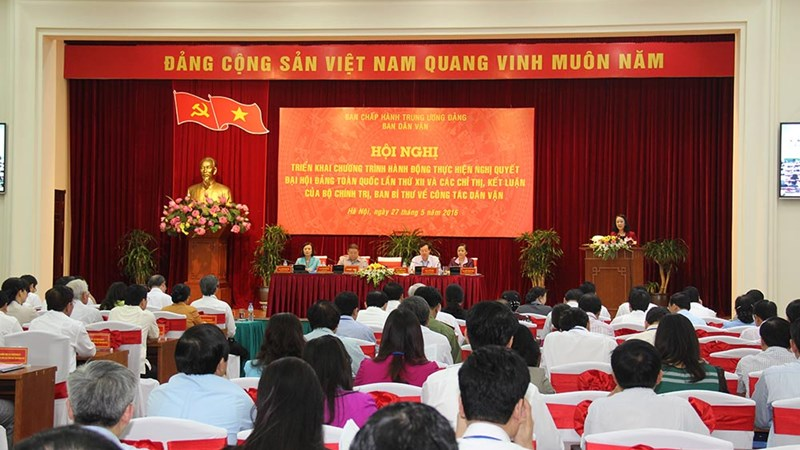 Ban Dân vận Trung ương Triển khai chương trình hành động thực hiện Nghị quyết Đại hội Đảng toàn quốc lần thứ XII của Đảng