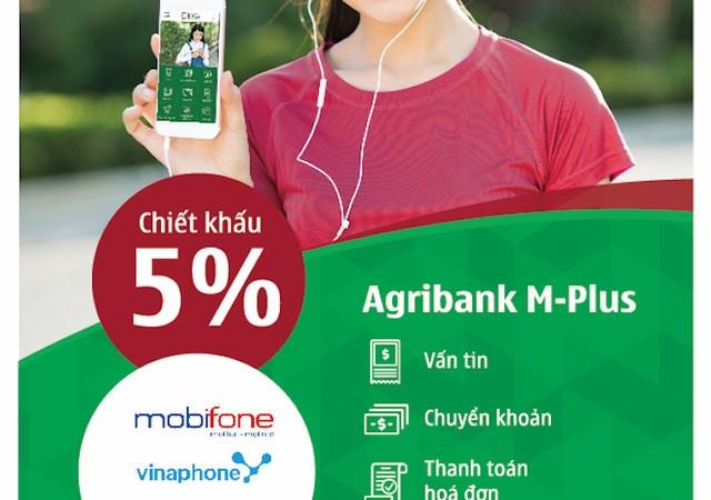 Nạp tiền điện thoại nhận ngay ưu đãi qua ứng dụng Agribank M-Plus