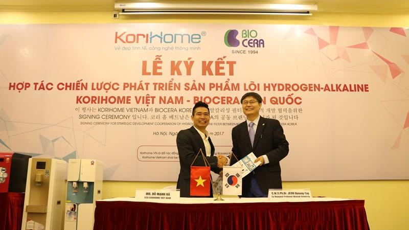 Biocera Hàn Quốc chọn Korihome Việt Nam làm đối tác đồng phát triển thương hiệu