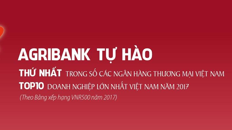 Agribank xếp thứ 6 trong trong TOP500 doanh nghiệp lớn nhất Việt Nam
