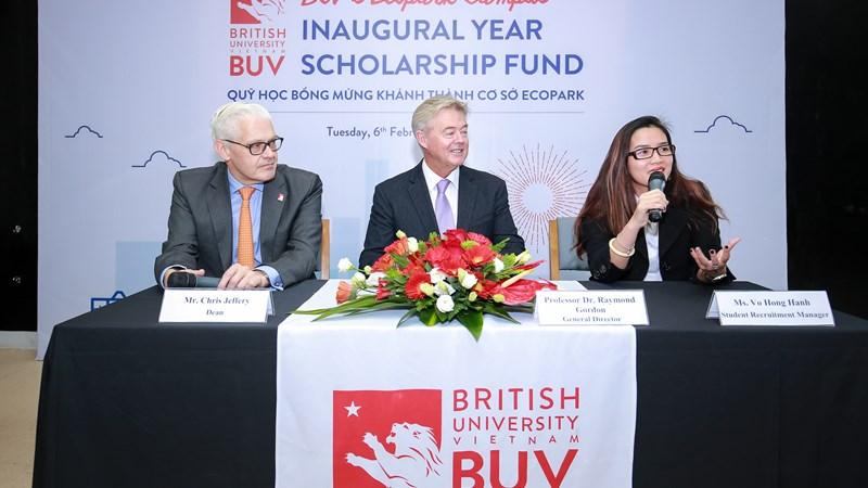 BUV gây quỹ học bổng nuôi dưỡng tài năng Việt