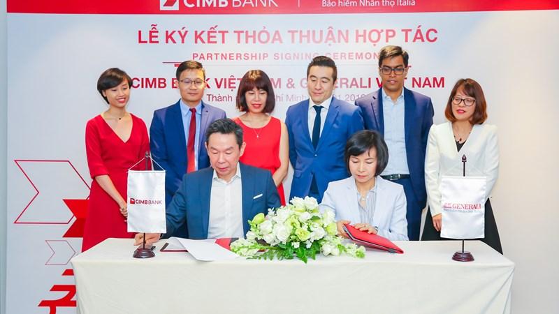 Generali Việt Nam hợp tác phân phối phối bảo hiểm với Ngân hàng CIMB Việt Nam