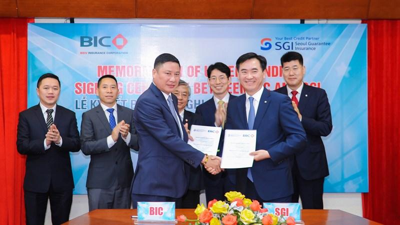 BIC và SGI ký kết biên bản ghi nhớ nhằm phát triển bảo hiểm bảo lãnh tại Việt Nam