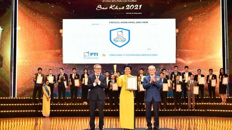 PTI là doanh nghiệp bảo hiểm đầu tiên đạt Giải thưởng Sao Khuê
