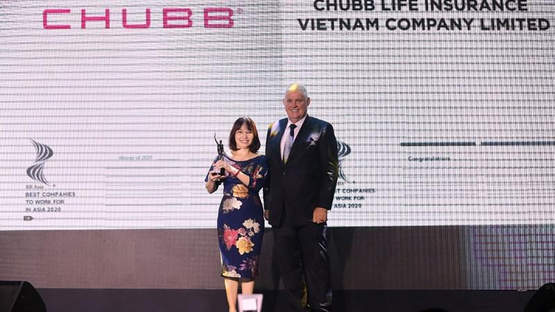 """Chubb Life Việt Nam nhận giải thưởng """"Nơi làm việc tốt nhất châu Á năm 2020"""""""