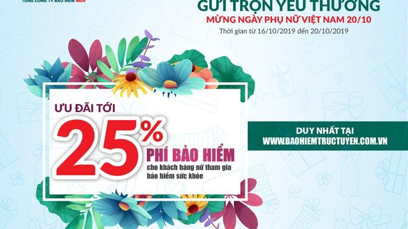 Bảo hiểm BIC giảm tới 25% phí bảo hiểm sức khỏe nhân ngày Phụ nữ Việt Nam