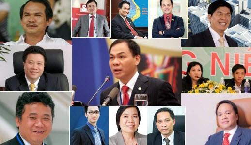 Đại gia Việt: Bão tố và sự nổi lên của những gương mặt mới