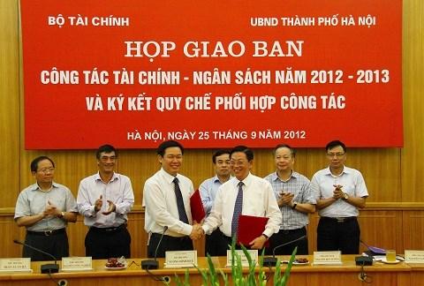 Bộ Tài chính và UBND TP. Hà Nội phối hợp công tác