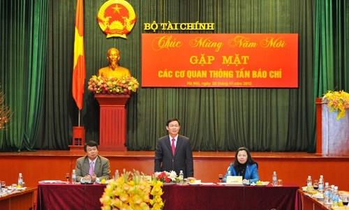 Bộ Tài chính tổ chức gặp mặt các cơ quan thông tấn báo chí