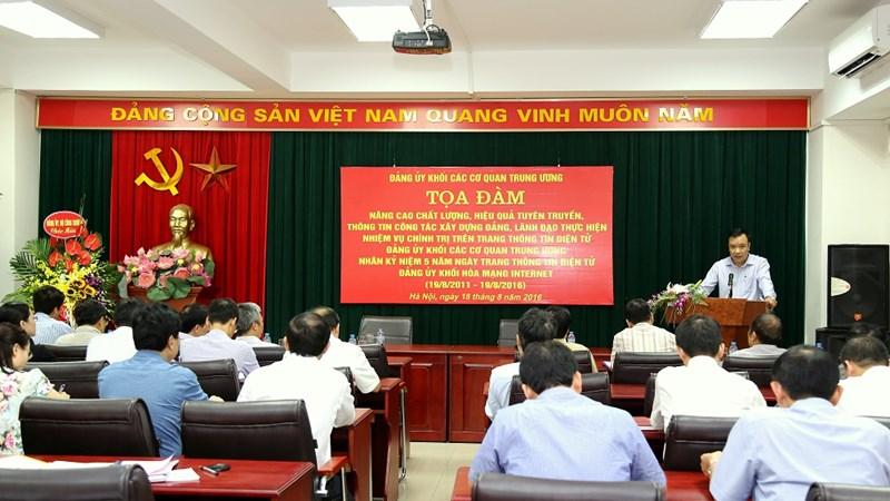 Tọa đàm nâng cao chất lượng thông tin tuyên truyền công tác Đảng