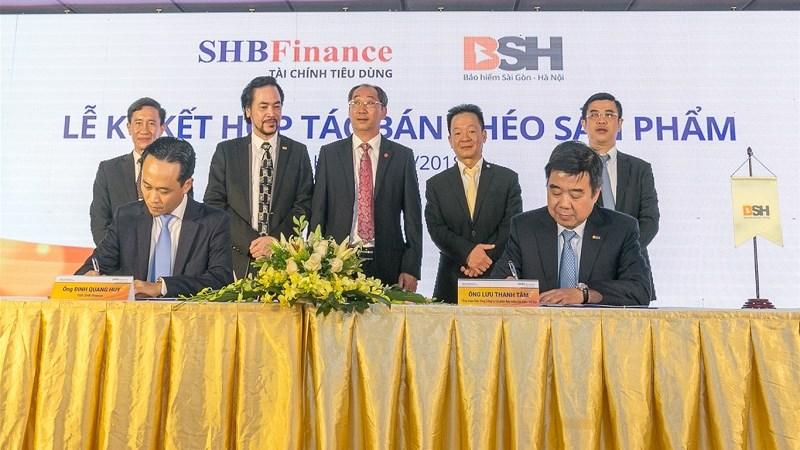 """BSH và SHB Finance hợp tác bán chéo sản phẩm bảo hiểm """"Bảo an tín"""""""