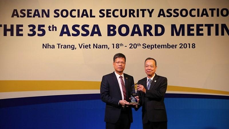 BHXH Việt Nam nhận giải thưởng công nghệ thông tin tại ASSA 35