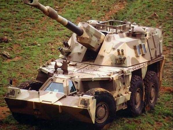 """Uy lực pháo tự hành """"Tê giác"""" G6 Rhino của Nam Phi"""