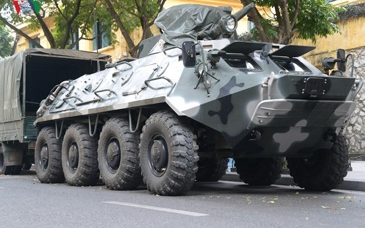 Quân đội Việt Nam sử dụng xe thiết giáp bảo vệ Thượng đỉnh Mỹ-Triều 2