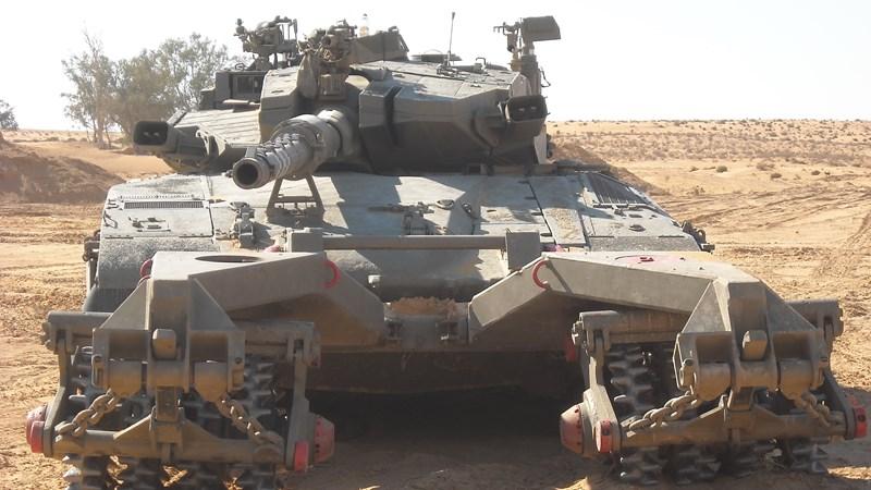 """[Infographic] Xe tăng Merkava- """"Quả đấm thép"""" của quân đội Israel"""