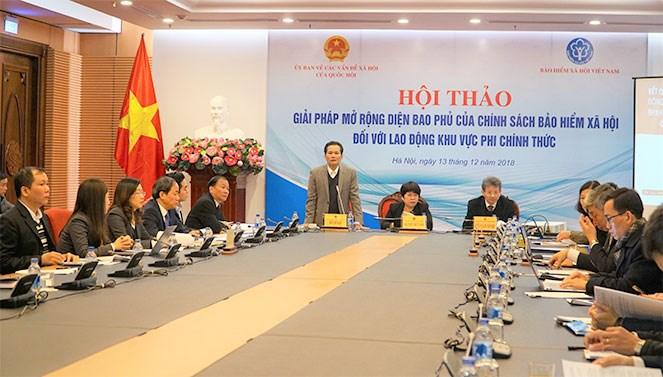Hội thảo Giải pháp mở rộng diện bao phủ của chính sách BHXH đối với lao động khu vực phi chính thức