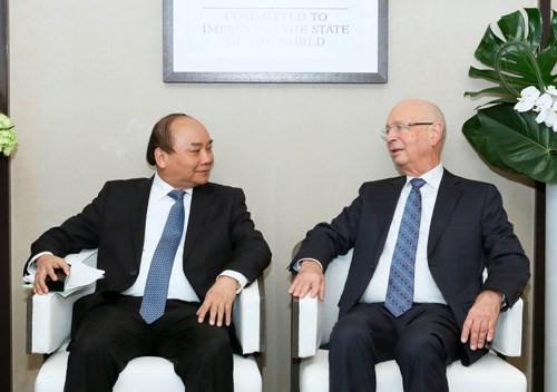 Thủ tướng Nguyễn Xuân Phúc bắt đầu các hoạt động tại Diễn đàn Kinh tế Thế giới