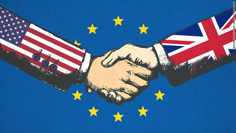 Tổng thống Mỹ cam kết duy trì quan hệ thương mại với Anh sau Brexit