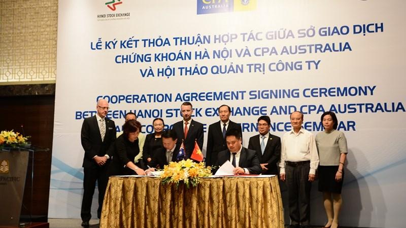 Thỏa thuận hợp tác giữa sở giao dịch chứng khoán Hà Nội và CPA Australia