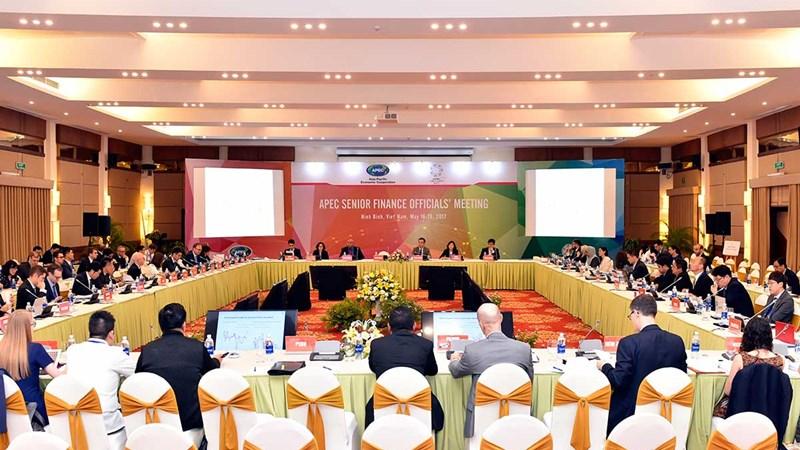 Thông tin kết thúc ngày họp đầu tiên của Hội nghị Quan chức Tài chính Cao cấp APEC