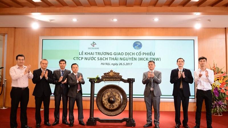 16 triệu cổ phiếu Nước sạch Thái Nguyên giao dịch trên UPCoM
