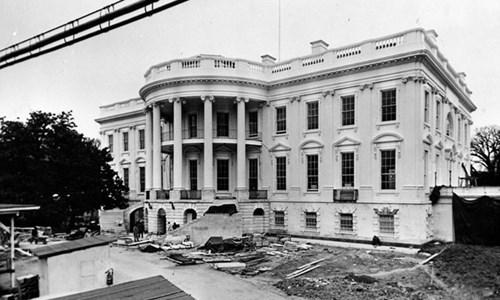 Ảnh hiếm về quá trình xây dựng Nhà Trắng của Mỹ