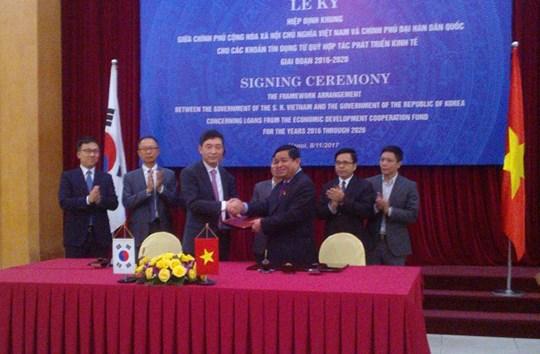 Hàn Quốc cung cấp 1,5 tỷ USD vốn vay cho Việt Nam