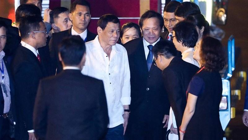 [Video] Tổng thống Philippines Duterte đến Đà Nẵng