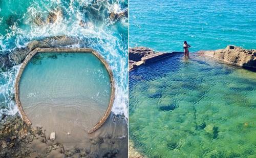Bể bơi nhân tạo đẹp như viên ngọc giữa đại dương