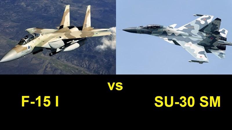 [Video] Mỹ công bố video tiêm kích F-15 bám đuổi Su-30 Nga