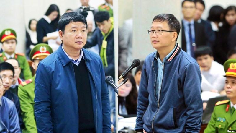 [Video] Án phạt cho bị cáo Đinh La Thăng và Trịnh Xuân Thanh như thế nào?