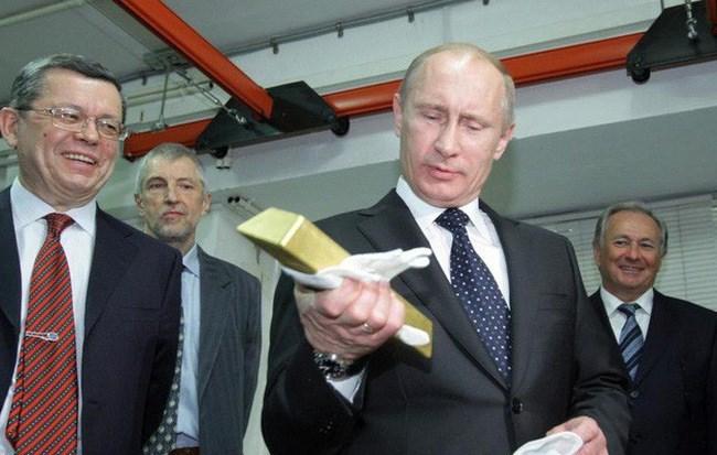 Nga vượt mặt Trung Quốc về trữ vàng khủng